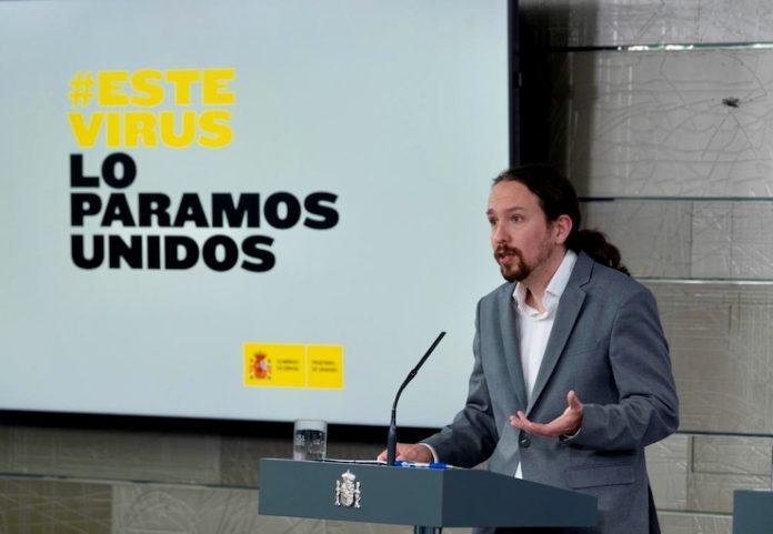 Pablo Iglesias, Vicepresidente segundo del Gobierno de España, en rueda de prensa. Foto ultimahora.es